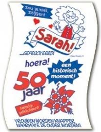 WC papier 50 jaar Sarah