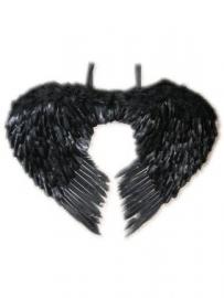 Engelenvleugels veren zwart
