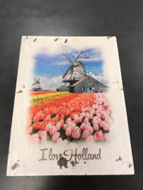 Houten deco Holland - I Love molen