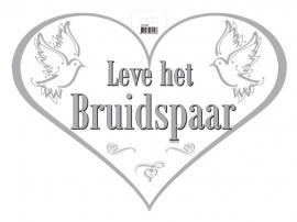 Deurbord leve het bruidspaar (hart)