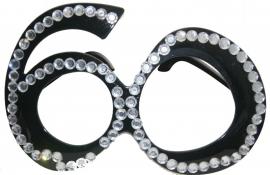 Bril 60 Jaar Zwart Diamantframe