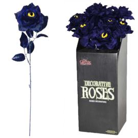Blauwe roos met kattenoog (42cm)