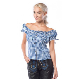 Blouse Liesl blauw/wit mt.42