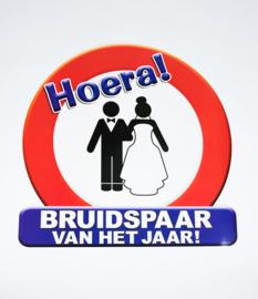 Verkeersbord Hulde bruidspaar