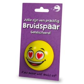 Cadeaukaarthouder stressball - Bruidspaar