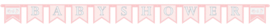 Letterslinger babyshower roze