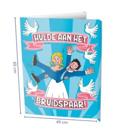 Window sign - Bruidspaar