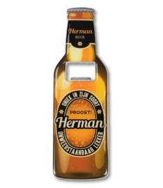 Magneet fles opener - Herman