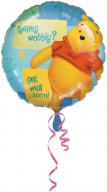 Folieballon pooh feeling wobbly