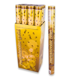 Party popper 60cm goud (kleurvast, bv)