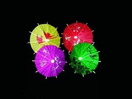 Cocktailprikker paraplu 12 stuks