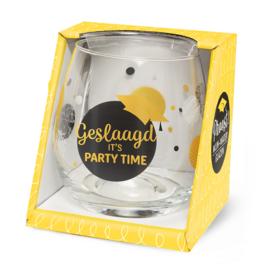 Wijn/waterglas - Geslaagd, party time