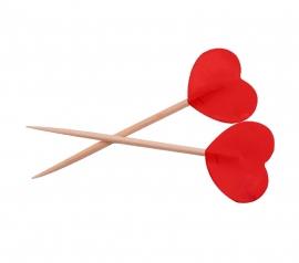 Prikkers rode hartjes 6,5cm/50st.