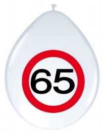 Ballonnen 8st. Verkeersbord 65