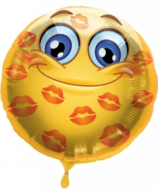 Folieballon Emoticon Lips Love Verpakt