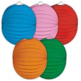 Lampion mix effen kleur bolvorm 22cm