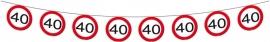 Vlaggenlijn Papier Verkeersbord 40