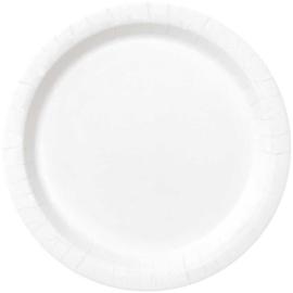 Borden 17 cm wit 8st.
