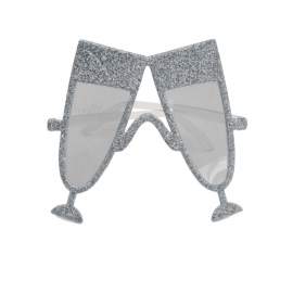 Bril champagneglas zilver