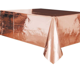 Tafelkleed plastic rose goud folie 137x274cm