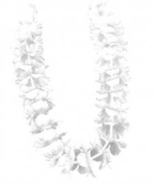 Hawaï krans wit