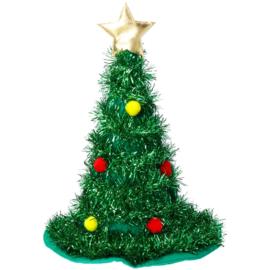Hoed Kerstboom groen met goudkleurige ster