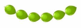 Knoopballonnen lime groen 3 mtr/8 st.