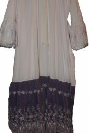 Albe/onderjurk luxe met paarse strook
