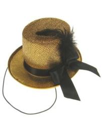 Hoge hoed midi glitter + deco goud