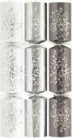 Christmas crackers doos wit/zilver/grijs6x 12 inch
