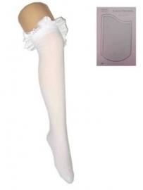 Britney kousen met strik wit