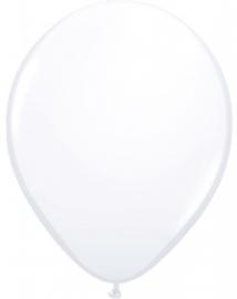 Ballonnen 100st. Wit metallic