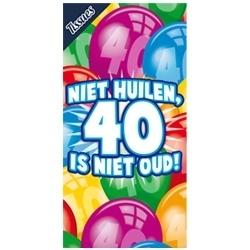 Tissuebox, Niet huilen 40 is niet oud