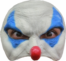 Masker rubber half Blue Clown