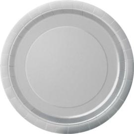 Borden 22 cm zilver 8st.