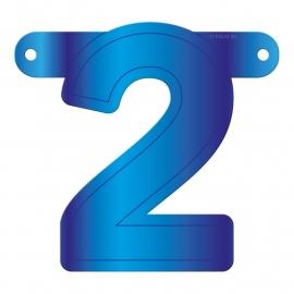 Banner Letter 2 Blue