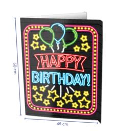 Window sign - Happy birthday