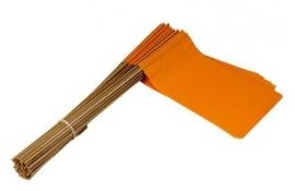 Vlaggetje op stok papier oranje