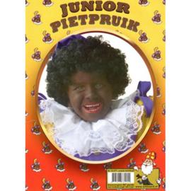 Pruik Piet junior zwart