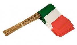 Vlaggetje op stok papier Italië