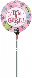 Folieballon i'ts girl dots&pins