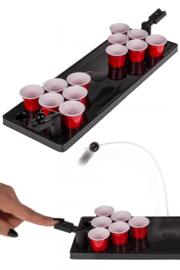 Drinkspel, Bierpong met 12 bekers en bord
