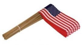 Vlaggetje op stok papier USA