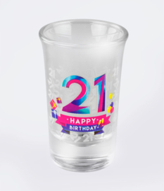 Happy shot glasses - 21 jaar (6 st.)