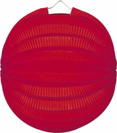 Lampion rond rood 23cm