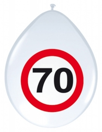 Ballonnen 8st. Verkeersbord 70