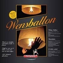 Wensballon wit (ca. 37x90cm)