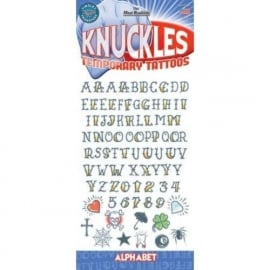 Tattoo Knuckles Alphabet