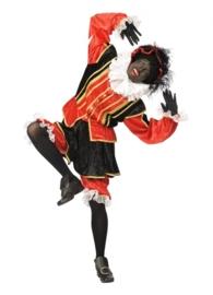 Dames Piet maat S zwart/rood
