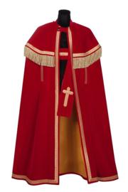 Sint mantel luxe Bram rood